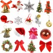 Royalty-Free Stock Photo: Collection Christmas decoration isolated on white background