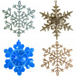 Snowflake shape decoration with clipping path included — Stock Photo #13837837
