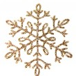 Snowflake shape decoration with clipping path included — Stock Photo