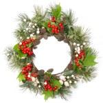 Christmas door decoration — Stock Photo #13838219