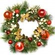 Stock Photo: Christmas door decoration
