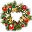 Christmas door decoration — Stock Photo