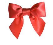 Red ribbon bow — Стоковое фото