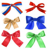 Collection beautiful colourful ribbon bow — Stock Photo