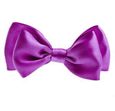 Lilac ribbon bow tie — Stock Photo