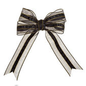 Black ribbon bow — Stock Photo
