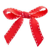 Red bow ribbon — Стоковое фото