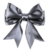 Black ribbon bow isolated on white background — Stock Photo
