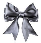 Black ribbon bow isolated on white background — Stock Photo