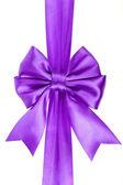 Lila vakantie ribbon bow geïsoleerd op witte achtergrond — Stockfoto