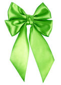 Beyaz arka plan üzerinde izole yeşil yay — Stok fotoğraf