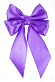 Lilac holiday bow isolated on white background — Stock Photo