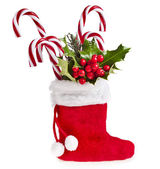 Christmas boot stocking — Stock Photo