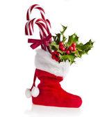 Christmas boot stocking — Stock Photo