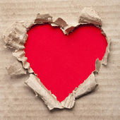 Torn paper heart — Stock Photo