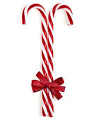 Lollipop cane isolated on white — Stock Photo