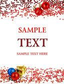 Kerstkaart met een plaats voor uw tekst — Stockfoto