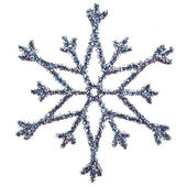 Schneeflocke Form Dekoration mit Beschneidungspfad enthalten — Stockfoto