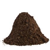 Pile of soil humus isolated on white — Stock Photo