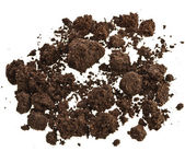 Pile of soil humus isolated on white — Stock Photo