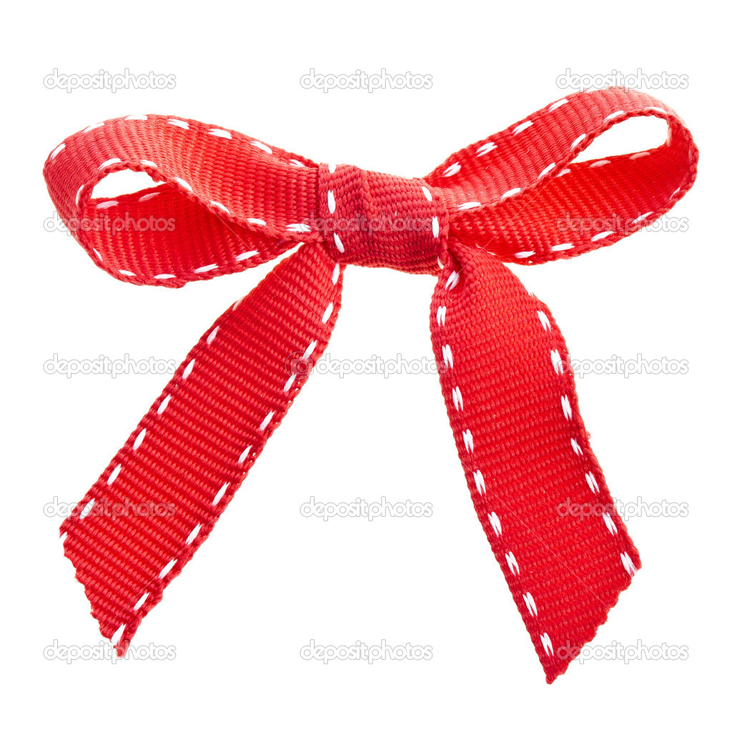 Red bow ribbon — Stock Photo #13835297