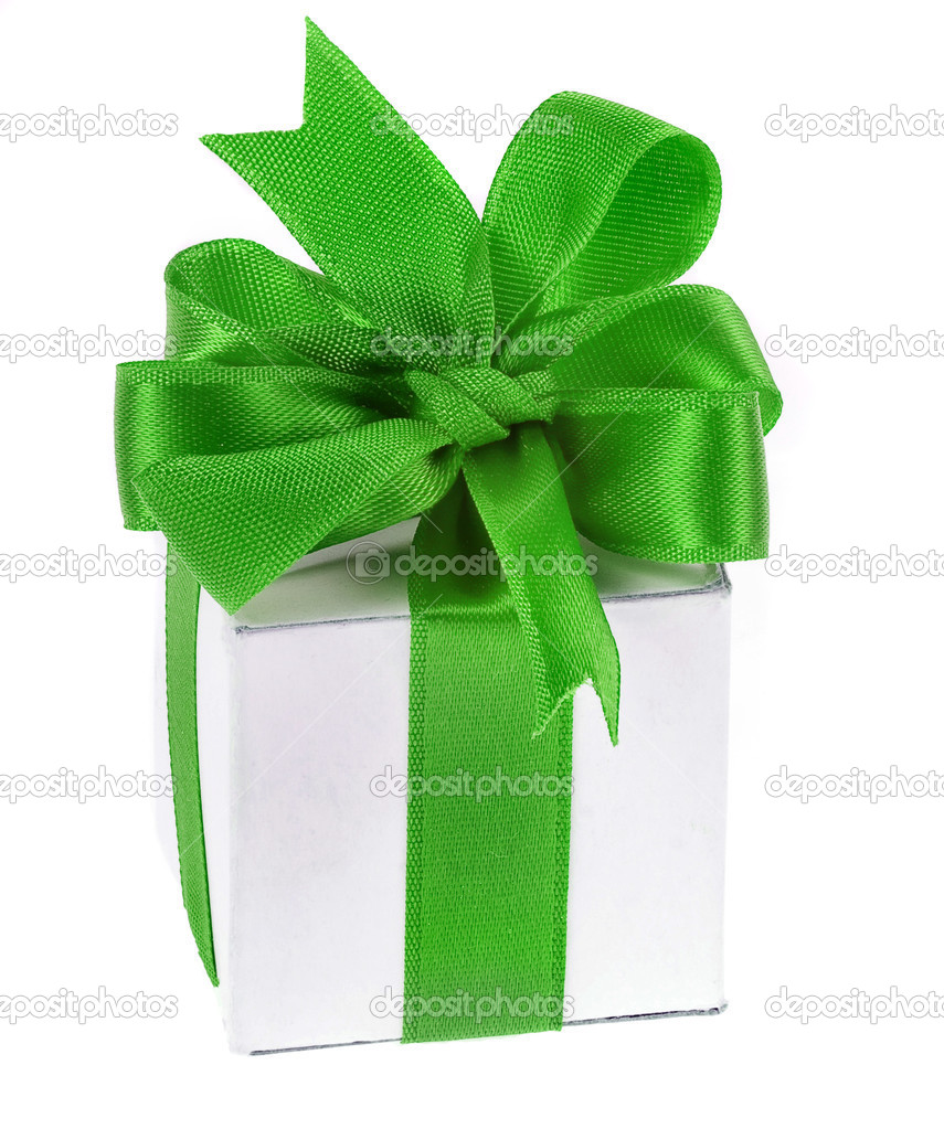 Gift box with bow — Stock Photo #13836002
