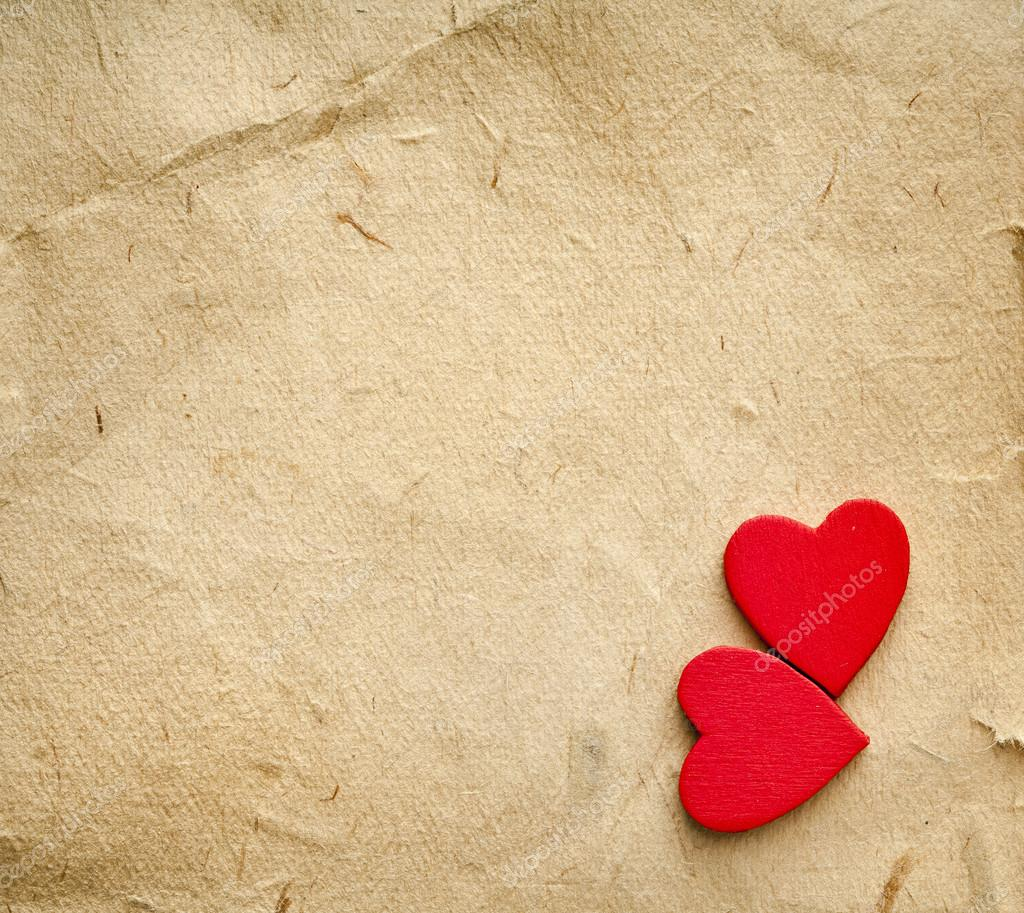 Vintage Heart Background Red hearts on vintage ...