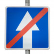 Stock Photo: Road sign: The End of the road one-way