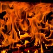 Fire on black background — Stock Photo #13991355