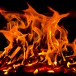Fire on black background — Stock Photo #13991356