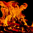 Fire on black background — Stock Photo #13991358