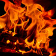 Stock Photo: Fire on black background
