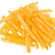 French fries potatoes isolated on white background — Stock Photo #13991778
