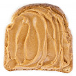 Stock Photo: Peanut butter sandwich on white background