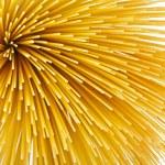 Uncooked pasta spaghetti macaroni — Stock Photo #13992306