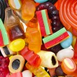 Assortment of colorful jelly candy — Stock Photo