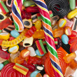 Assortment of colorful jelly candy - 图库照片