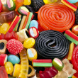 Assortment of colorful jelly candy - Stock Photo