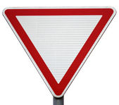 "Road sign ""give way"" — Stock Photo"