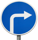 """Road sign """"Only the right"""" — Stock Photo"""