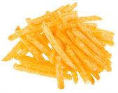 Ziemniaki frytki na białym tle — Zdjęcie stockowe