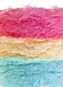 Cotton sweet candy texture on white — Stock Photo