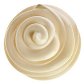 Mayonnaise swirl on white background — Stock Photo
