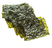 Dried seaweed kelp isolated — Stock Photo