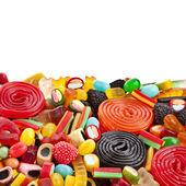 Variedade de doces de gelatina colorida — Foto Stock