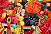 Assortment of colorful jelly candy — Stok fotoğraf