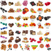 Various Candies Collection isolated on white background — Stock Photo