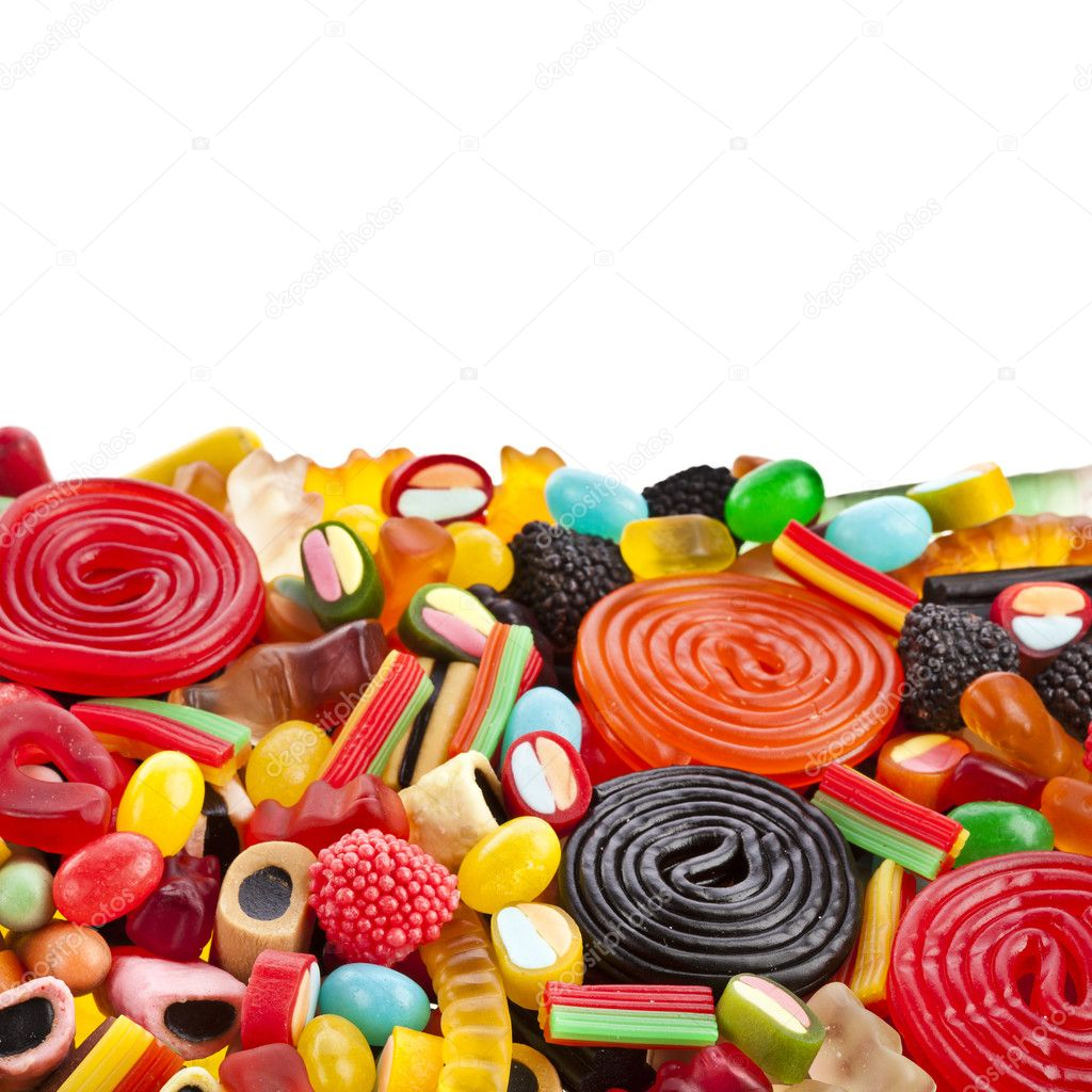Assortment of colorful jelly candy — Stock Photo #13999351