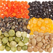 Mix from different beans, legumes, peas, lentils — Stock fotografie