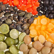 Mix from different beans, legumes, peas, lentils — Stock Photo #14090769